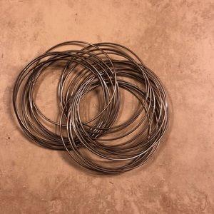 Chunky twisted bangles/bracelet